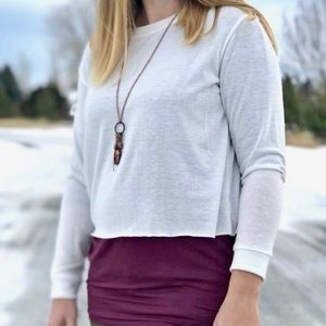 French Terry Pullover by Agnes & Dora in Ivory